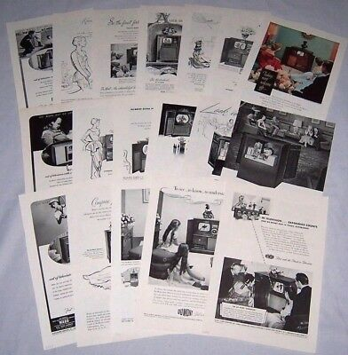 Lot of 18 Ads Advertisements ~ DUMONT TV Television 1947-1951 ~First with Finest