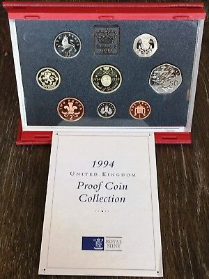 1994 United Kingdom Proof 8 Coin Collection - In Original Case with COA