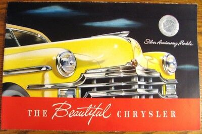 1949 Chrysler Color Brochure, New Yorker Windsor Saratoga Woody Wagon Original