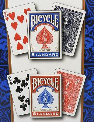 2 Sealed Package Deck of BICYCLE Standard Face Poker Playing Cards Red or Blue
