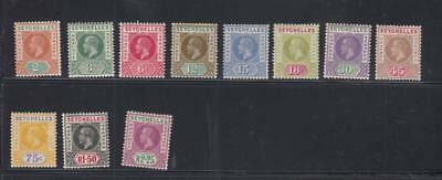 Seychelles # 63-73 Vf-Mlh Kgv Issues Comes With Warwick Warwick Cert Cv $137