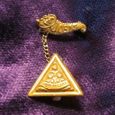Vintage Jobs Daughters IYOB Filiae Pin 1/20 12 KT  Gold Filled