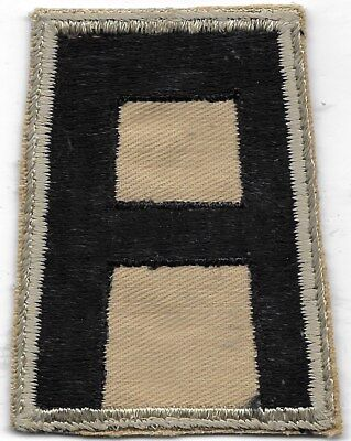 """Ex/rare Orig Wwii """"1St Army Khaki Variation"""" Patch - Embroidered On Khaki"""