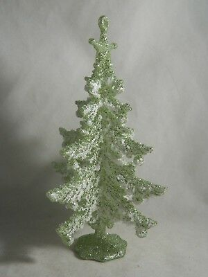 Light Green Winter Whispers Frosted Tree Christmas Tree Ornament new holiday