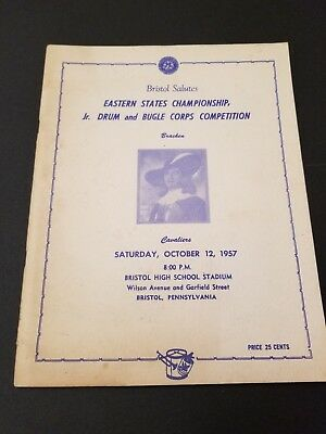 Vtg 1957 Eastern States Jr. Drum and Bugle Corps Competition Program Bristol PA