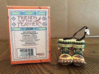 "Enesco Friends Of The Feather ""Son Moccasins"" Hanging Ornament  552100"