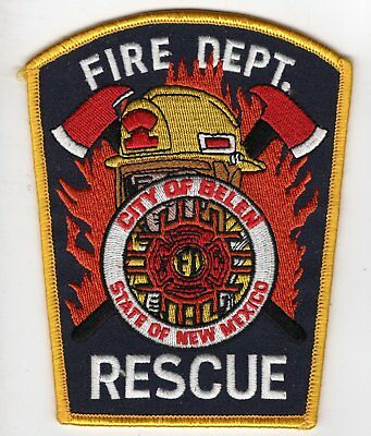 Belen NM New Mexico Fire Department Company Rescue Patch