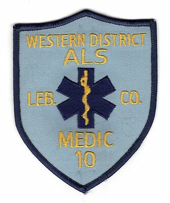 Western District ALS Lebanon PA Pennsylvania Fire Department Company Patch Medic