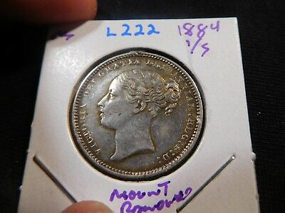 L222 Great Britain 1884 Shilling Mount Removed