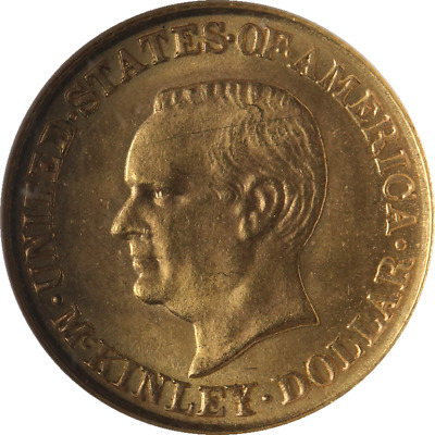 1916 McKinley Commemorative Gold $1 NGC MS64 Great Eye Appeal Nice Strike