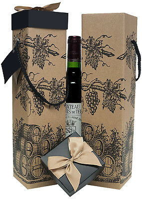 Wine Gift Boxes - Sold in Set x2 - Montrachet Collection - EndlessArtUS Wine Box