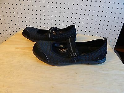Skechers Bikers MJ Woven Casual Shoes, #11436 - black - size 7