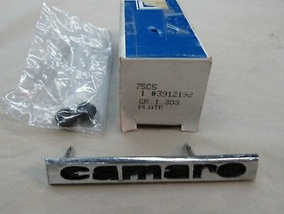 * NOS 1967 Chevy Camaro Z28 SS RS 396 Front Header Panel Emblem Plate GM 3912192