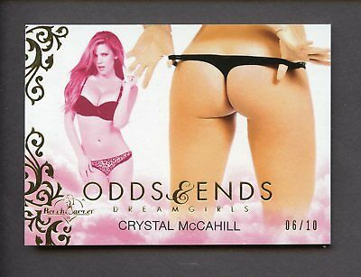 2016 Bench Warmer Dreamgirls Odds & Ends Gold Foil Crystal McCahill 6/10