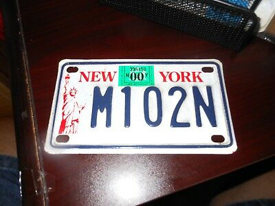 New York 2000 motorcycle license plate