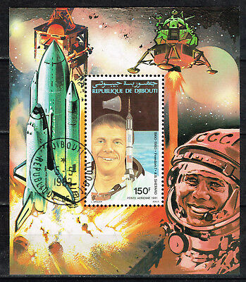 Djibouti First Soviet and US Men in Space Gagarin and Shepard Souvenir Sheet