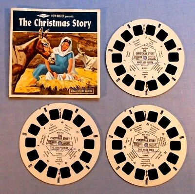 Viewmaster Reels - The Christmas Story - Set Of 3 With Booklet In Good Condition