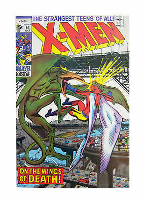 """Marvel: X-Men #61, """"on The Wings Of Death"""", Team Vs Sauron, 1969, Vf+ (8.5)!!!"""