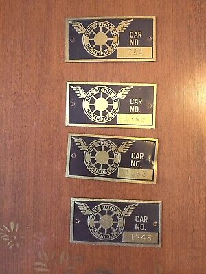 Antique Automobile, Star Motor Co., Baltimore, Maker Tags