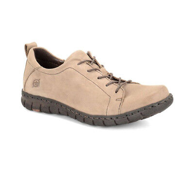 New Born Women's Kester Leather Sneaker Taupe 7