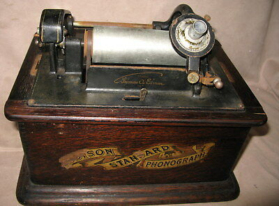 EDISON STANDARD PHONOGRAPH CYLINDER RECORD MUSIC PLAYER 1906 Serial # 581271