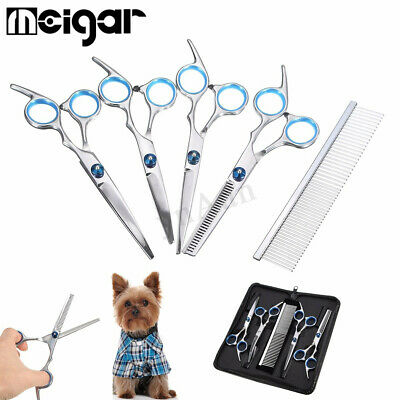 """6"""" Hair Cutting Pet Dog Cat Grooming Scissors Cutting Curved Thinning Shears"""