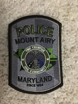 Mount Airy Maryland Police Subdued Police Patch