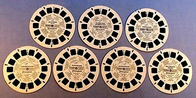 Viewmaster Reels - Disneyland - Lot Of 7 In Good Condition