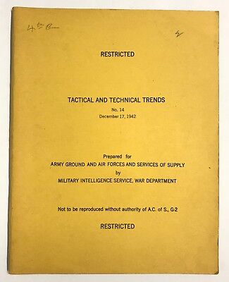 Original WWII Tactical and Technical Trends No. 14, December 17, 1942