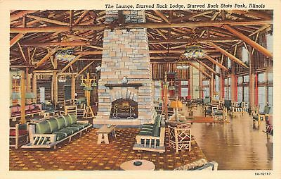 C09-5248, The Lounge, Lodge Hotel, Starved Rock State Park, Ill.