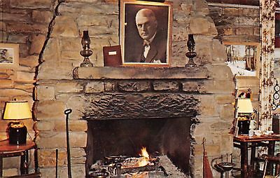 C09-5257, Main Fireplace, Abe Martin Lodge, Brown County State Park, Ill.