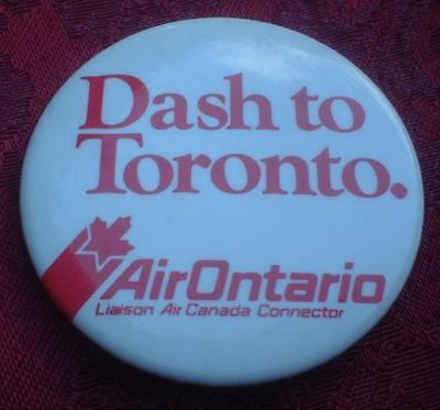 Vintage Air Ontario Lines Toronto Canada Pinback Button Pin ~ Airlines Aviation