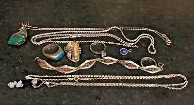 Lot of STERLING SILVER 925 Vintage Jewelry, scrap or use..73 grams
