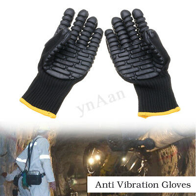 Rubber Anti Vibration Work Gloves Shockproof  Hand Protector For Drilling