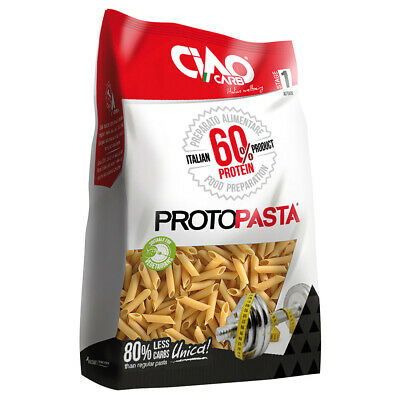 (15,56€/kg) CiaoCarb Protopasta 60% Protein Nudeln Penne 5x 250g