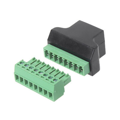 Ethernet RJ45 Female To8-Pin Screw Terminal Adapter Connector For Digital DVR