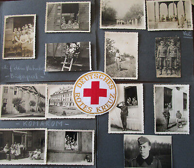 WW II 3.Reich  German  Original  4 Albumpages with 28 Photos and 1 DRK Abz.
