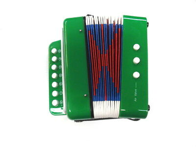 JUNIOR BUTTON PIANO ACCORDION Green Finish