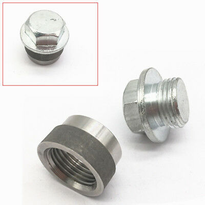 STAINLESS STEEL O2 Oxygen Sensor Stepped M18x1 5 Thread+Zinc Plated Plug  For Car