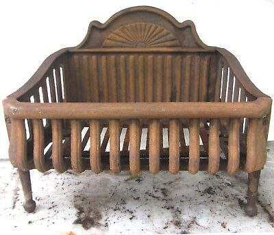 """Antique Decorative Cast Iron Fireplace Box Grate Coal Wood Insert 20"""" By 12"""""""