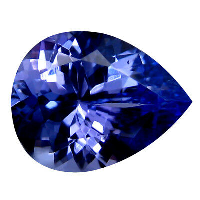 2.16Ct MIND BOGGLING ! TOP RICH FIRE AAA+ BLUISH VIOLET NATURAL TANZANITE