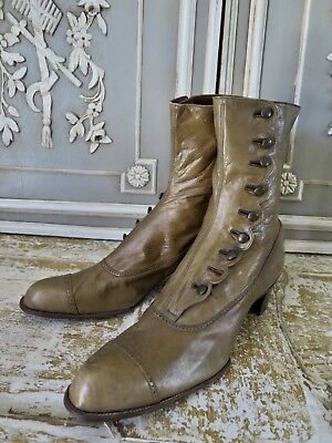 FRANKREICH 1890s ANTIK Knopfstiefel Antique Victorian BOOTS french Shabby