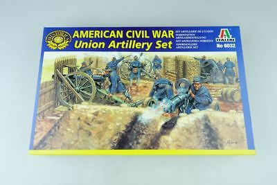 Italeri 1:72 American Civil War Union Artillery Set Figuren Kit 6032 Box 107715