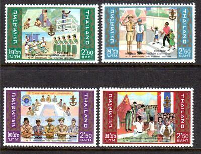 1986 THAILAND 75th ANNIVERSARY THAI SCOUTING SG1257-1260 mint unhinged