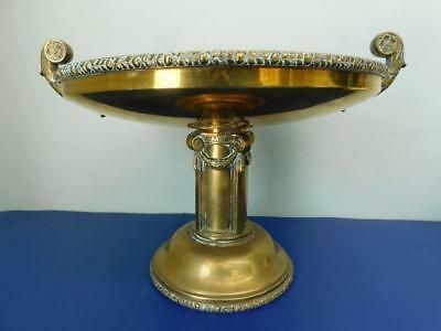 Huge Edwardian Brass Compote Centrepiece c1900s Neoclassical Art Deco WMF?