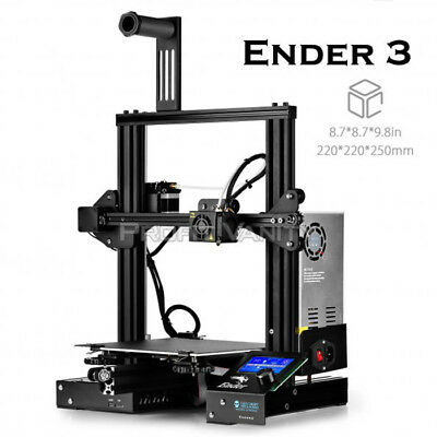 Creality3D Ender-3 3D Printer With Upgrade Tempered Glass Heat Bed Ca Stock