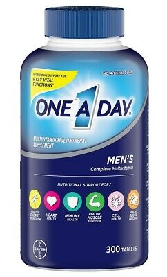 New Men's One A Day Multivitamin 300 Tablets Adult Multi Vitamin