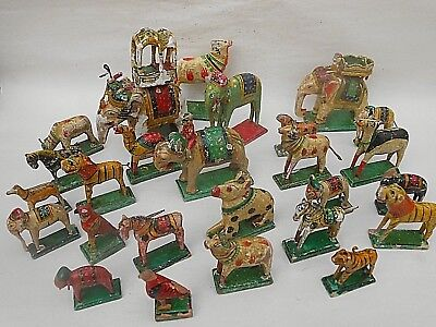 Large Collection of ANTIQUE/VINTAGE Hand Painted ** CIRCUS/ZOO ANIMALS **