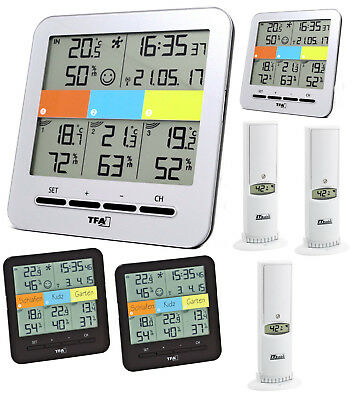 Klimahome Rhodos Tfa 30.3060.It Funk Thermo-Hygrometer Raumüberwachung 2 Display