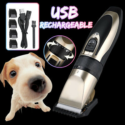 Pet Cat Dog Clipper Hair Shaver Grooming Electric USB Rechargeable Trimmer Kit